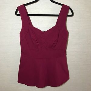 Torrid Wine Peplum Top Sz 0